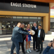 Celebrate the completion of Eagle Stadium